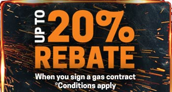 Upto 20% Reabte when sign a gas contract